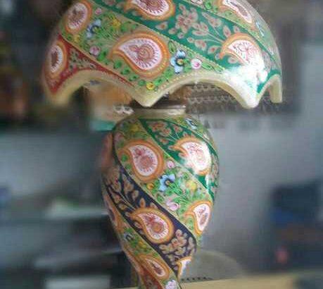 Camel skin side tabel lamp