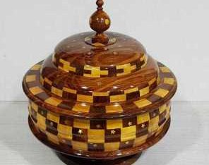 wooden hand carved jewellary box