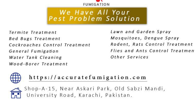 Accurate Fumigation Service Karachi, Pest Control