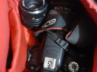 Canon 700d with box,bag and 2 lenses