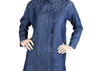 Women's Denim Kurti – Blue