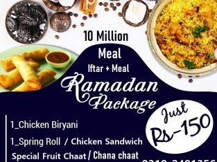 Ramadan Iftar + Meal + Sehri 10milionmeals.pk