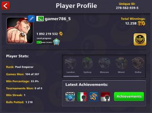 8 ball pool Coins And cash for sale in pakistan