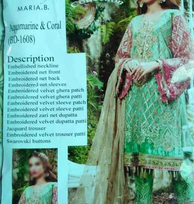 MARIA B LUXURY CHIFFON COLLECTION