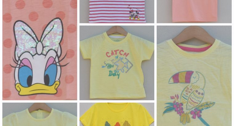Pack of Branded T-shirts for baby girls