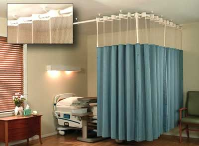 Hospital ICU Track And Partition Curtain Services